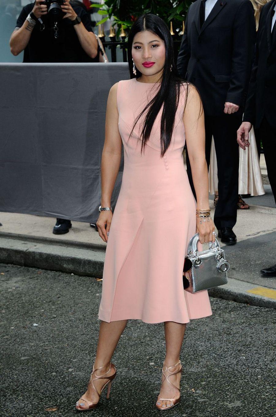 La princesse Sirivannavari Nariratana de Thaïlande à Paris, le 4 juillet 2016