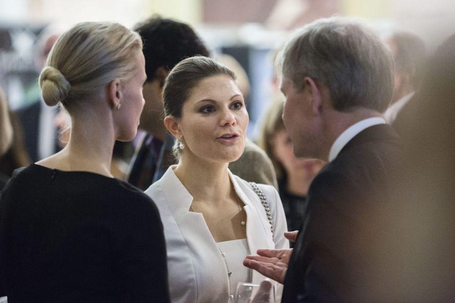 La princesse Victoria de Suède au Computer history museum dans la Silicon Valley, le 20 janvier 2015