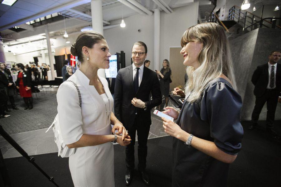 La princesse Victoria et le prince Daniel au Computer history museum dans la Silicon Valley, le 20 janvier 2015