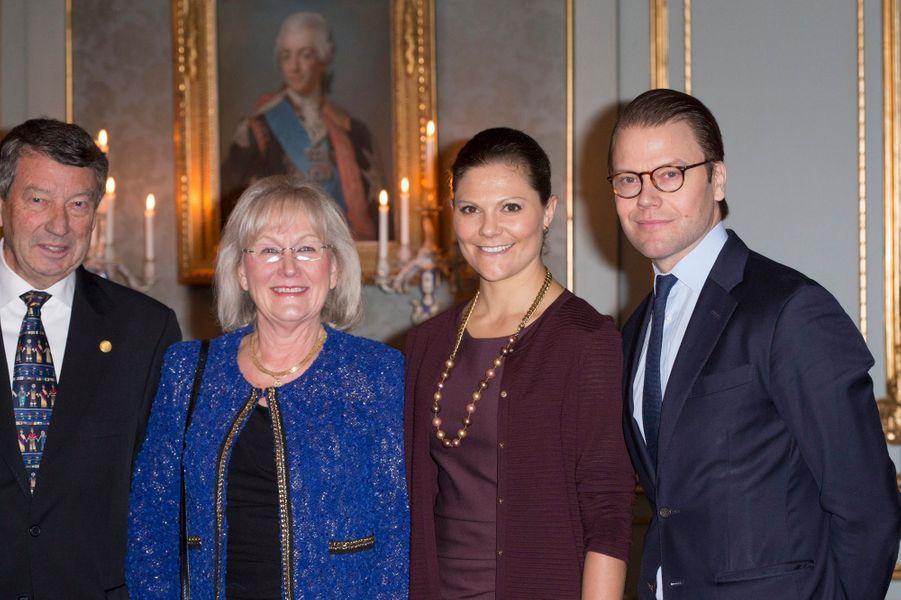 La princesse Victoria de Suède et le prince Daniel à Stockholm, le 18 novembre 2014
