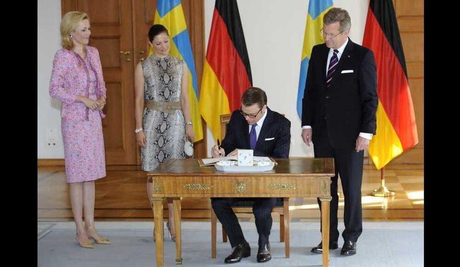 avec le président allemand Christian Wulff et son épouse Bettina.