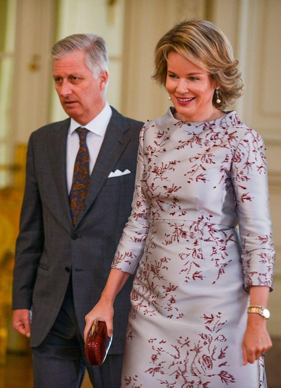 Le roi des Belges Philippe et la reine Mathilde à Bruxelles, le 15 janvier 2019
