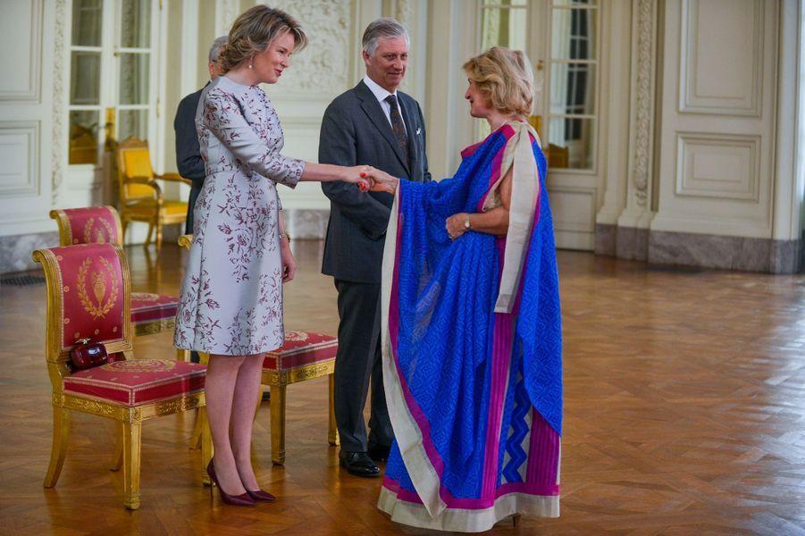 La reine Mathilde et le roi des Belges Philippe à Bruxelles, le 15 janvier 2019