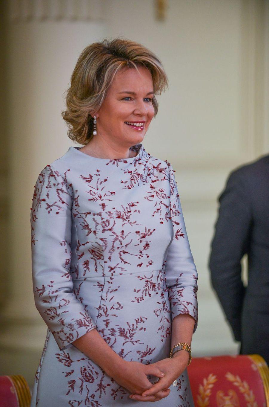 La reine des Belges Mathilde à Bruxelles, le 15 janvier 2019