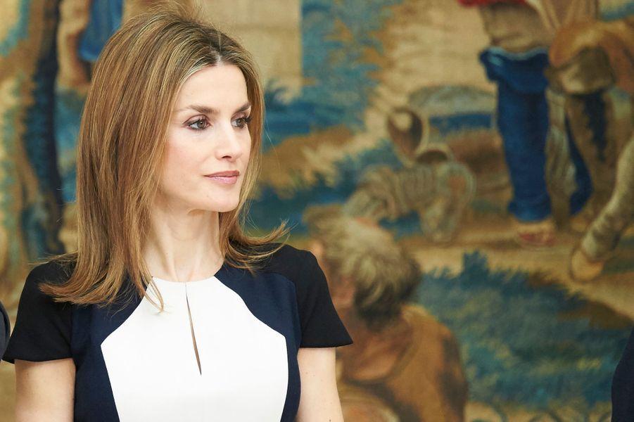 La reine Letizia lors de la remise des Prix de la culture 2013 à Madrid, le 16 février 2015