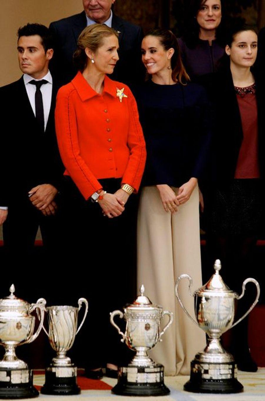 L'infante Elena d'Espagne à Madrid, le 4 décembre 2014