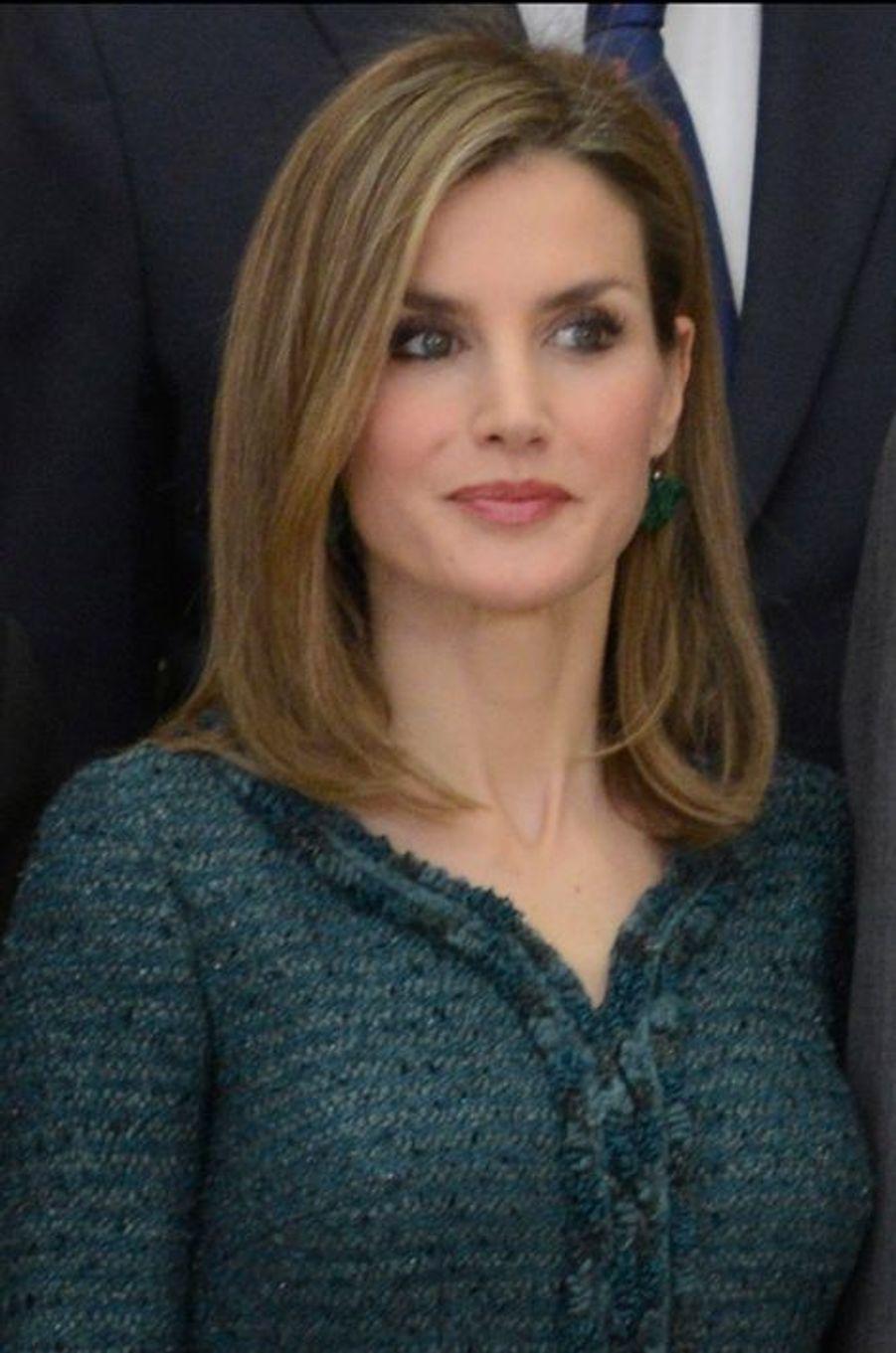 La reine Letizia d'Espagne à Madrid, le 4 décembre 2014