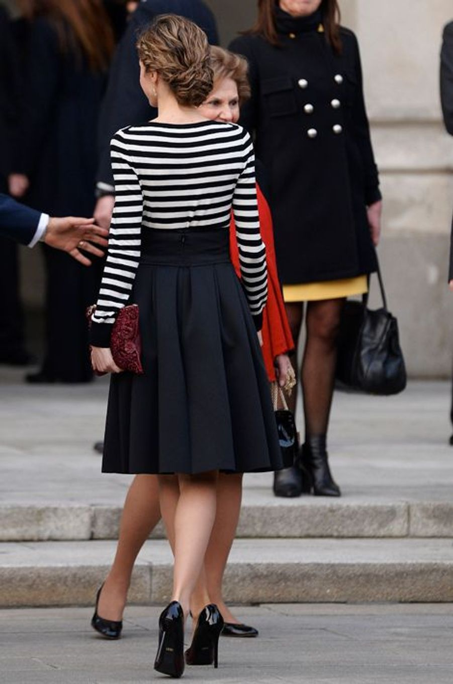 La reine Letizia à La Corogne, le 19 février 2015