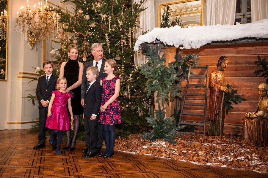 La famille royale de Belgique à Bruxelles, le 17 décembre 2014