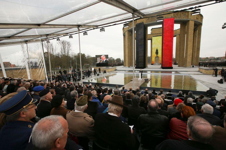 Commémoration de la première bataille d'Ypres à Nieuwpoort, le 28 octobre 2014