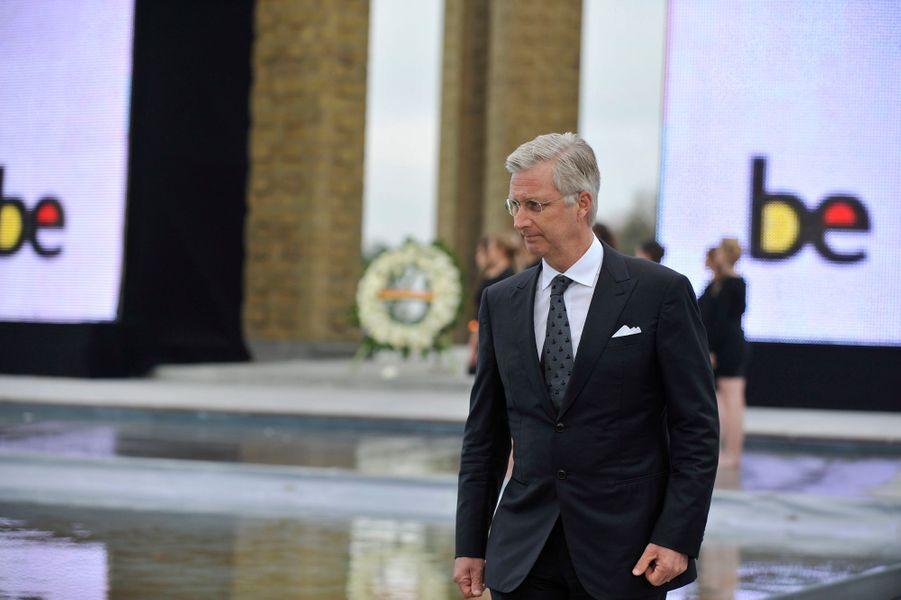 Le roi Philippe de Belgique lors de la commémoration de la première bataille d'Ypres à Nieuwpoort, le 28 octobre 2014