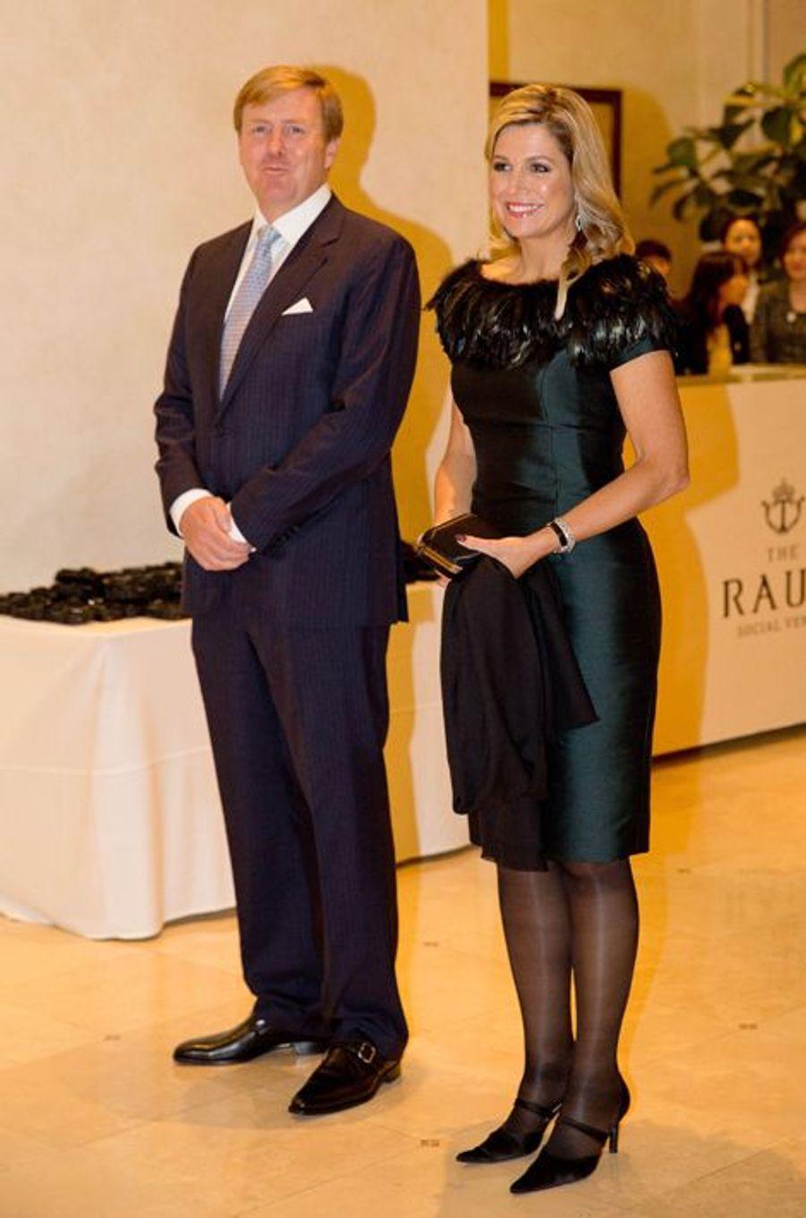 Le roi Willem-Alexander des Pays-Bas et la reine Maxima au concert de Lavinia Meijer à Séoul, le 4 novembre 2014