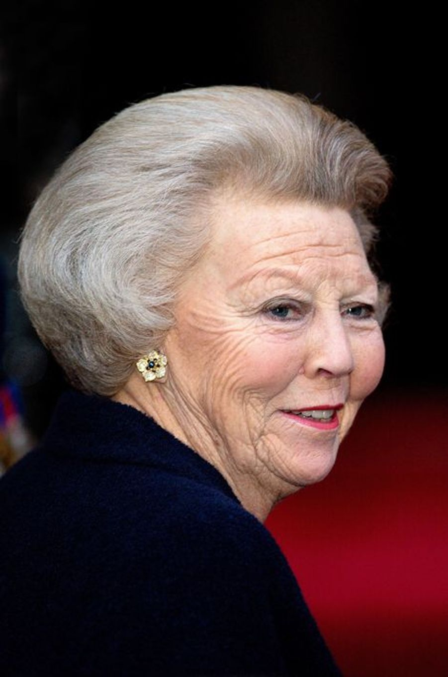 La princesse Beatrix des Pays-Bas à Amsterdam, le 14 janvier 2015