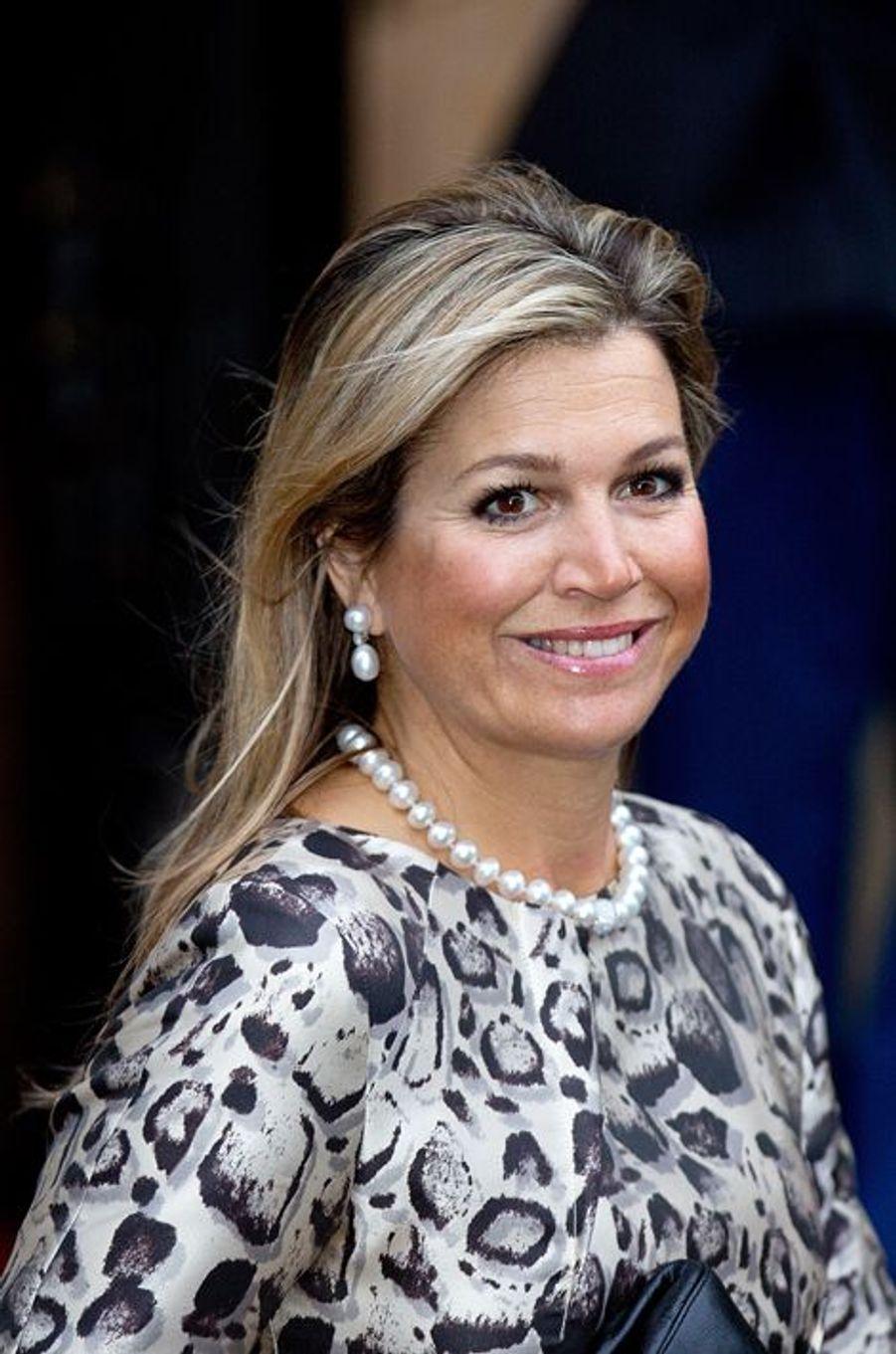 La reine Maxima des Pays-Bas à Amsterdam, le 14 janvier 2015