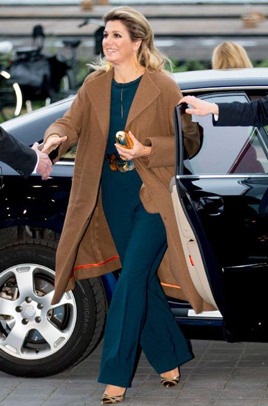 La reine Maxima des Pays-Bas à Amsterdam, le 1er décembre