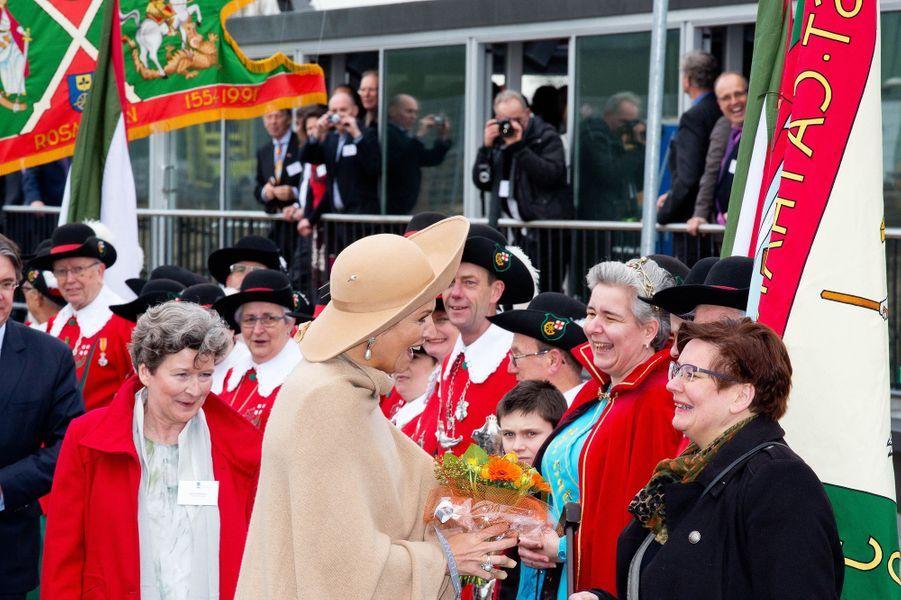 La reine Maxima inaugure le canal Maxima dans le Brabant, le 4 mars 2015