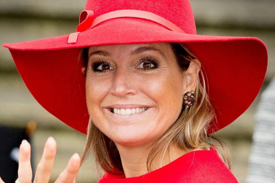 La reine Maxima des Pays-Bas a présidé le symposium des 40 ans de Blijf Groep à Amsterdam le 14 octobre 2014