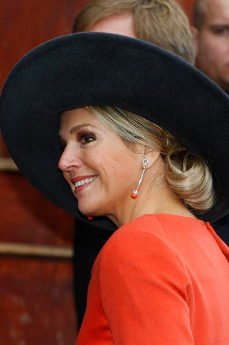 La reine Maxima en visite dans les provinces de Groningue et de Drenthe, le 17 février 2015