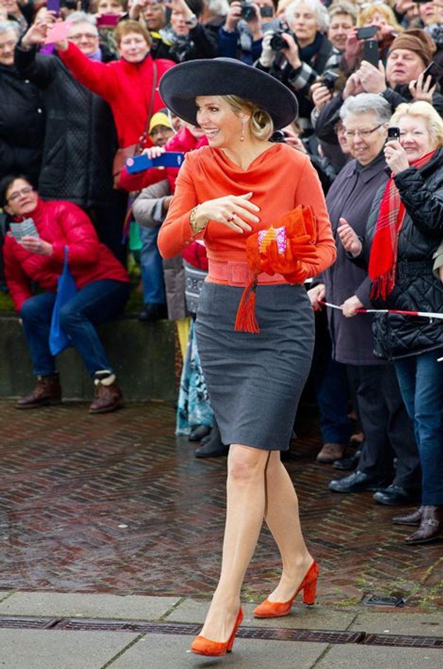 La reine Maxima très attendue dans les provinces de Groningue et de Drenthe, le 17 février 2015