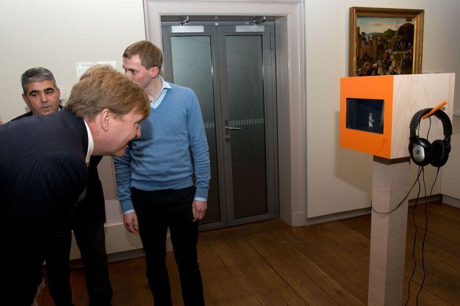 Le roi Willem-Alexander lance la nouvelle campagne de l'Oranje fonds à Utrecht, le 11 novembre 2014