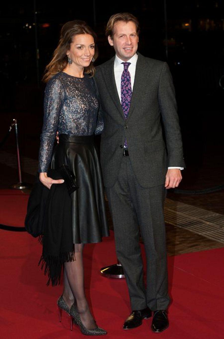 La princesse Aimée et le prince Floris au théâtre Beatrix d'Utrecht, le 8 décembre 2014