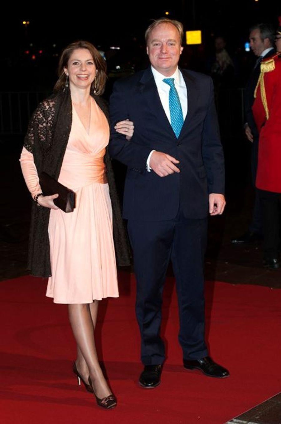 La princesse Anne-Marie et le prince Carlos de Bourbon-Parme au théâtre Beatrix d'Utrecht, le 8 décembre 2014