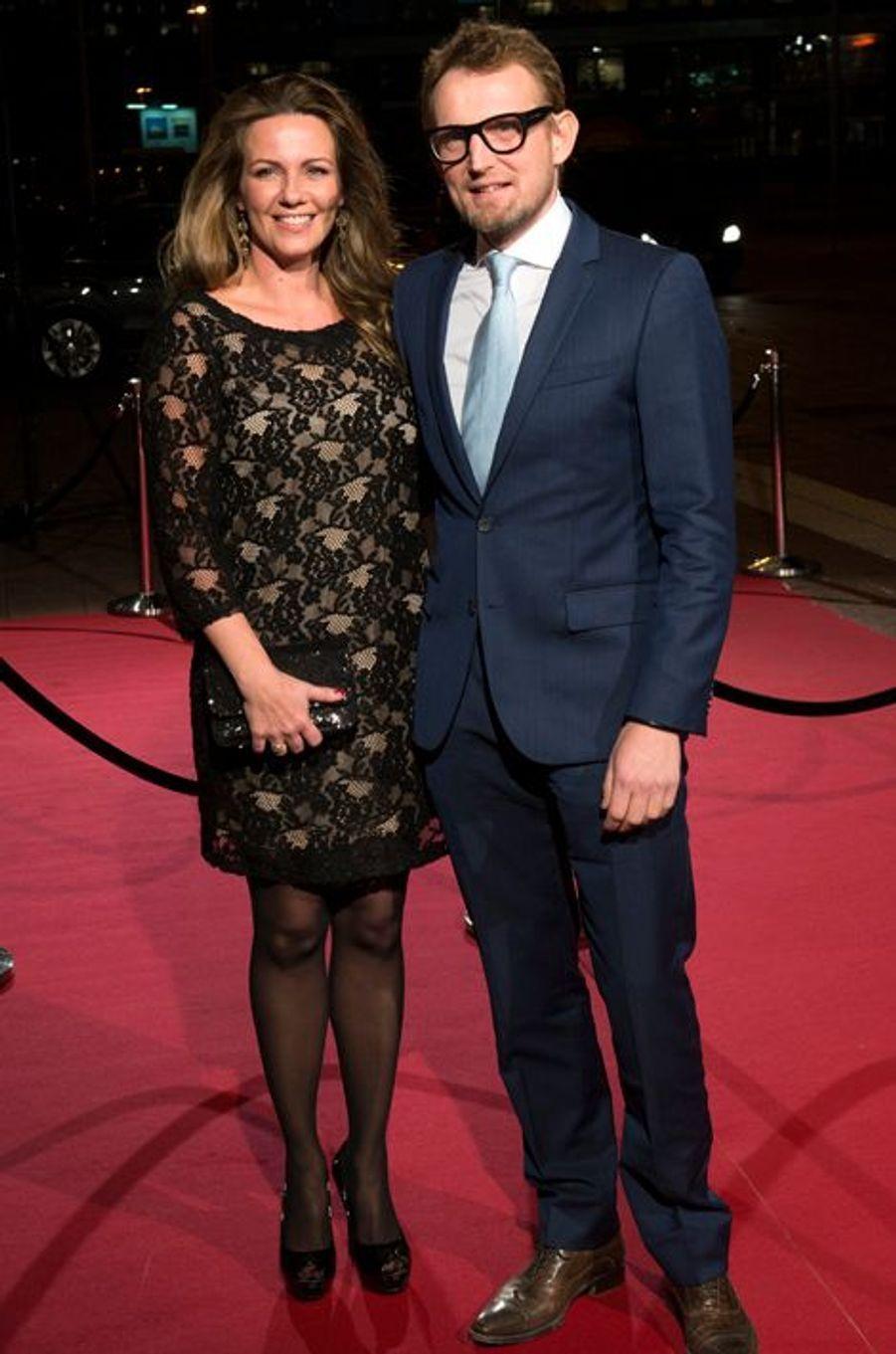 La princesse Annette et le prince Bernhard au théâtre Beatrix d'Utrecht, le 8 décembre 2014
