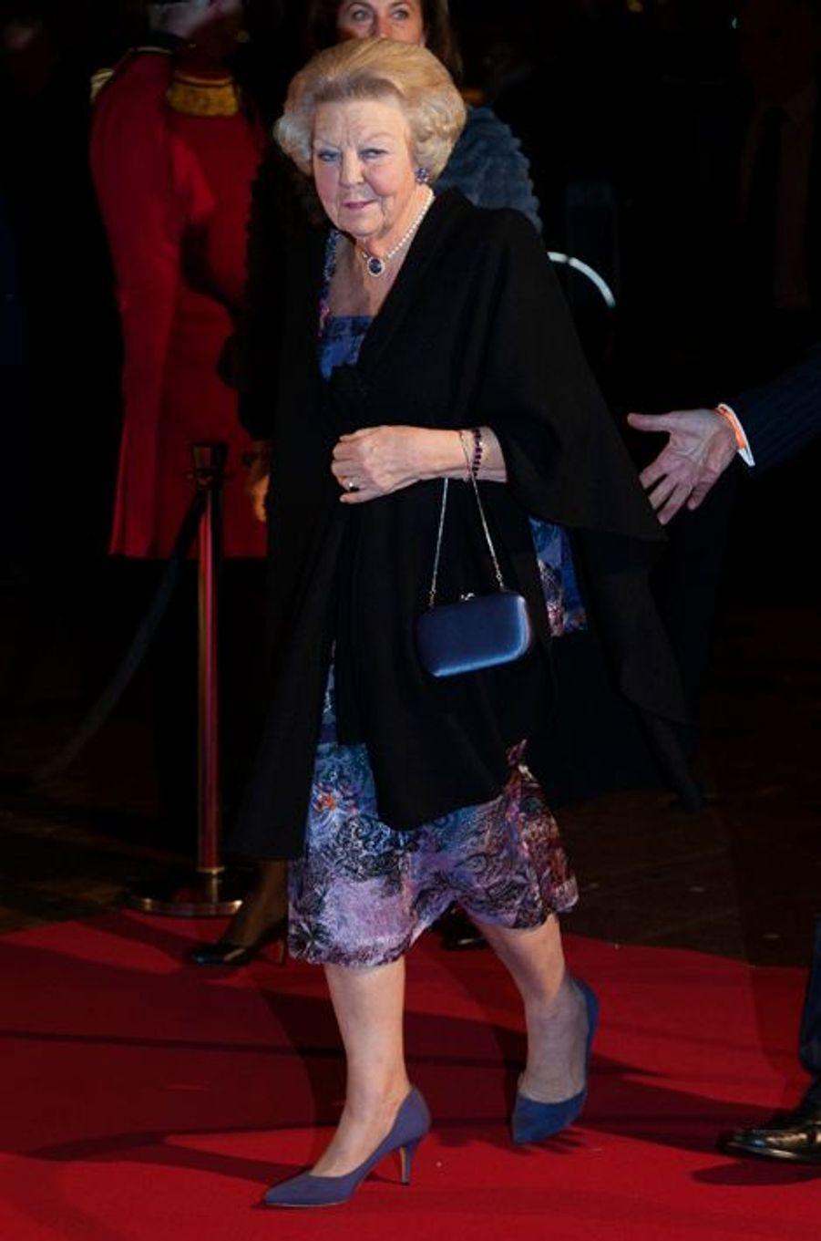 La princesse Beatrix des Pays-Bas au théâtre Beatrix d'Utrecht, le 8 décembre 2014