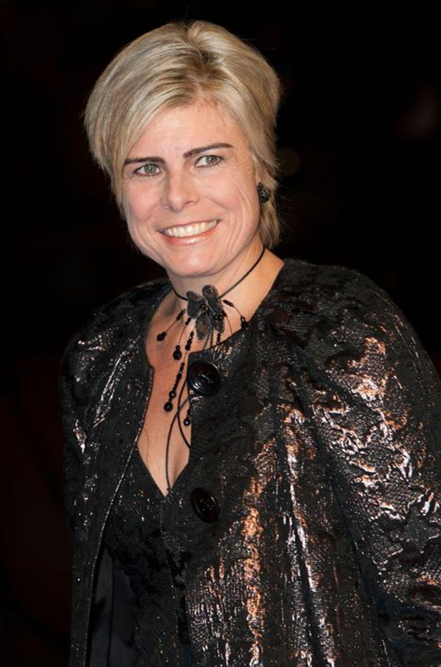 La princesse Laurentien au théâtre Beatrix d'Utrecht, le 8 décembre 2014
