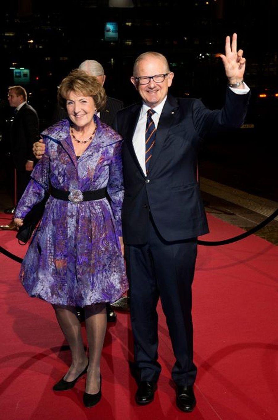 La princesse Margriet et Pieter Van Vollenhoven au théâtre Beatrix d'Utrecht, le 8 décembre 2014