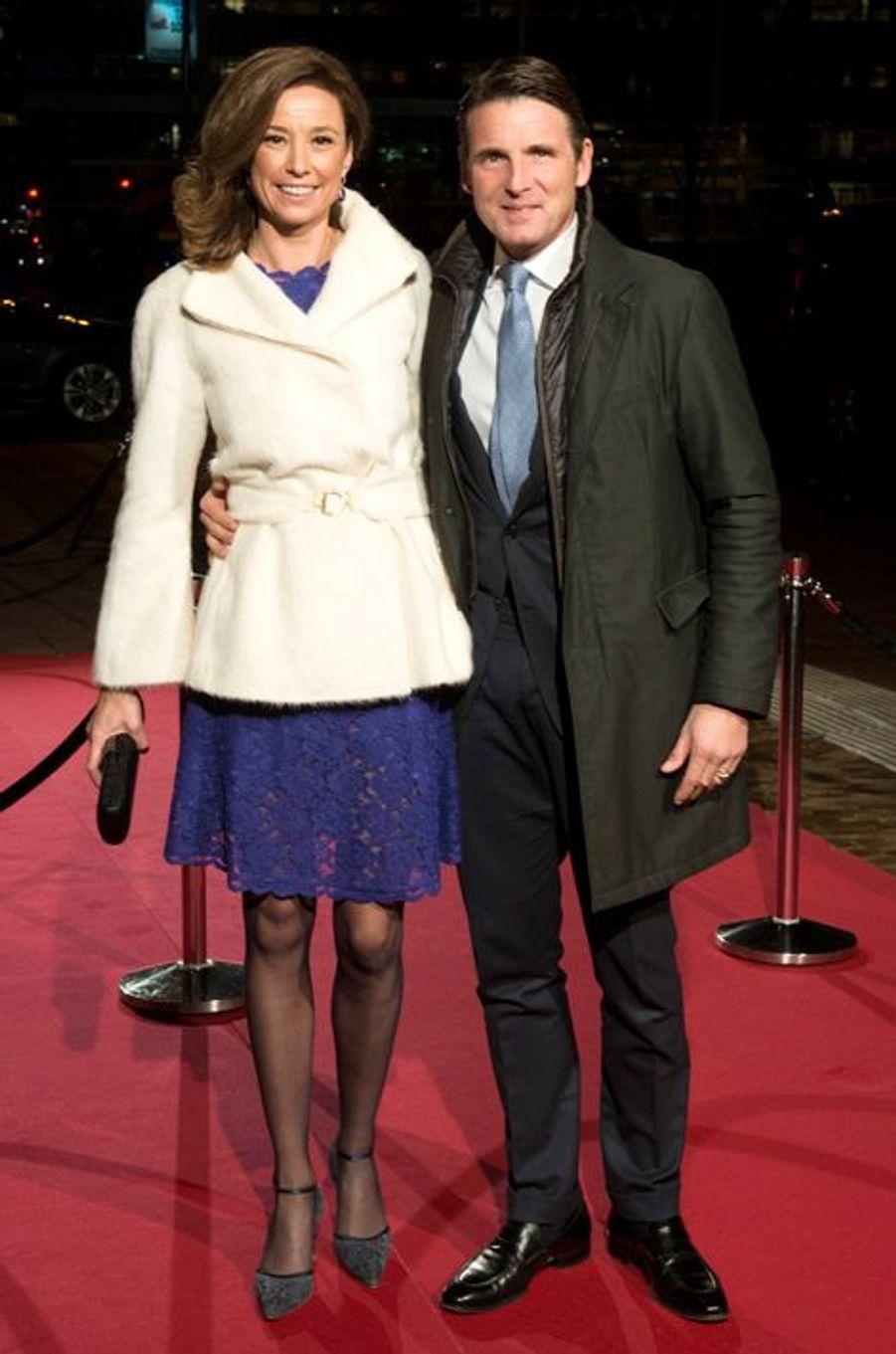 La princesse Marilene et le prince Maurits au théâtre Beatrix d'Utrecht, le 8 décembre 2014
