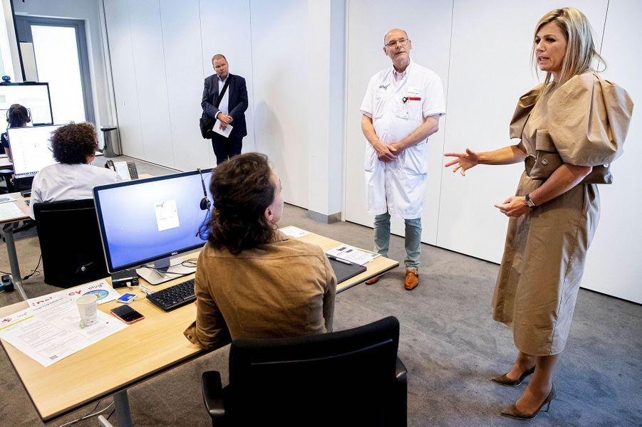 La reine Maxima des Pays-Bas à Amsterdam, le 26 mai 2020