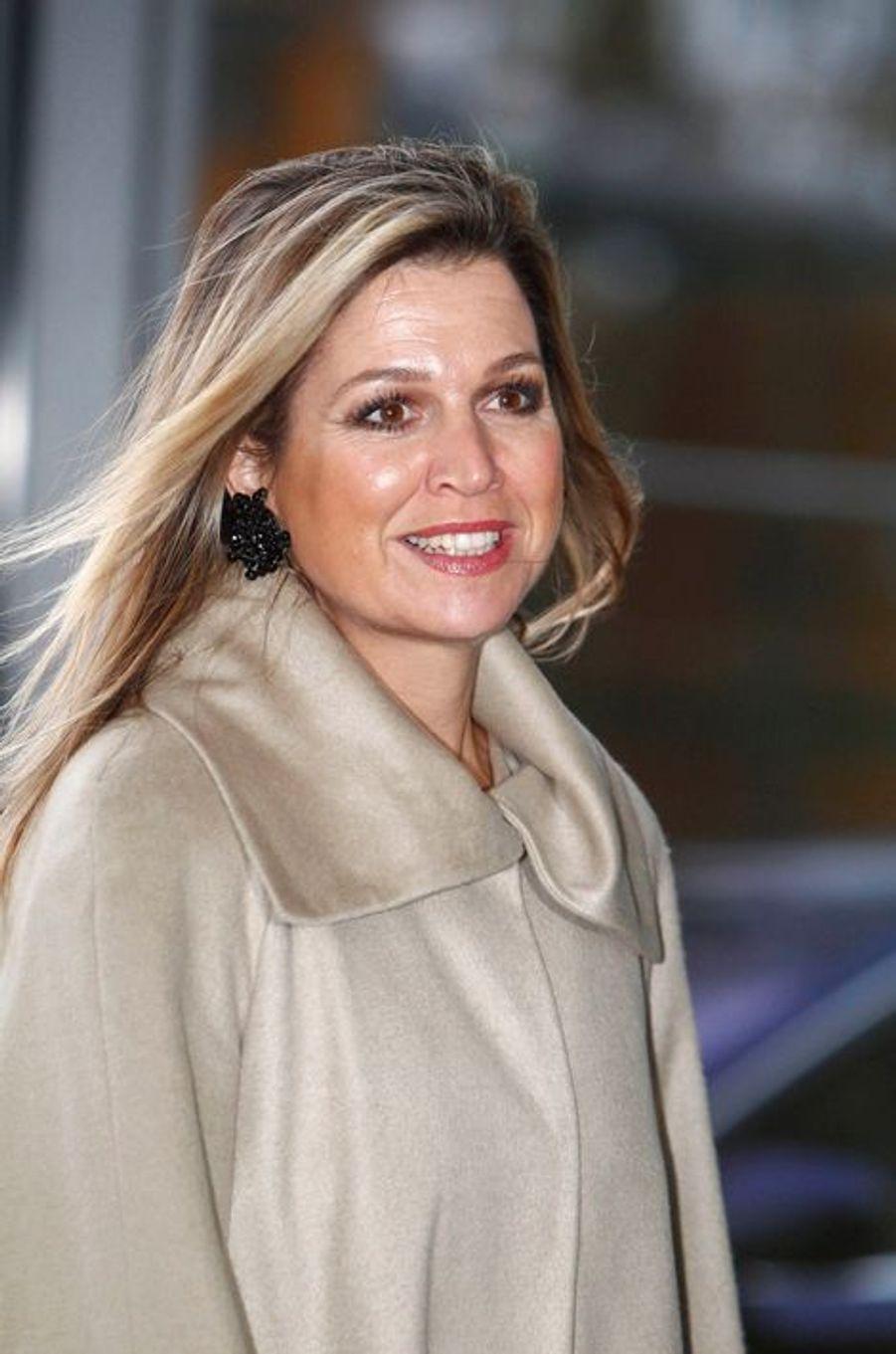 La reine Maxima des Pays-Bas au séminaire de Coalition de la croissance durable néerlandaise (DSGC) à Amsterdam, le 2 décembre 2014