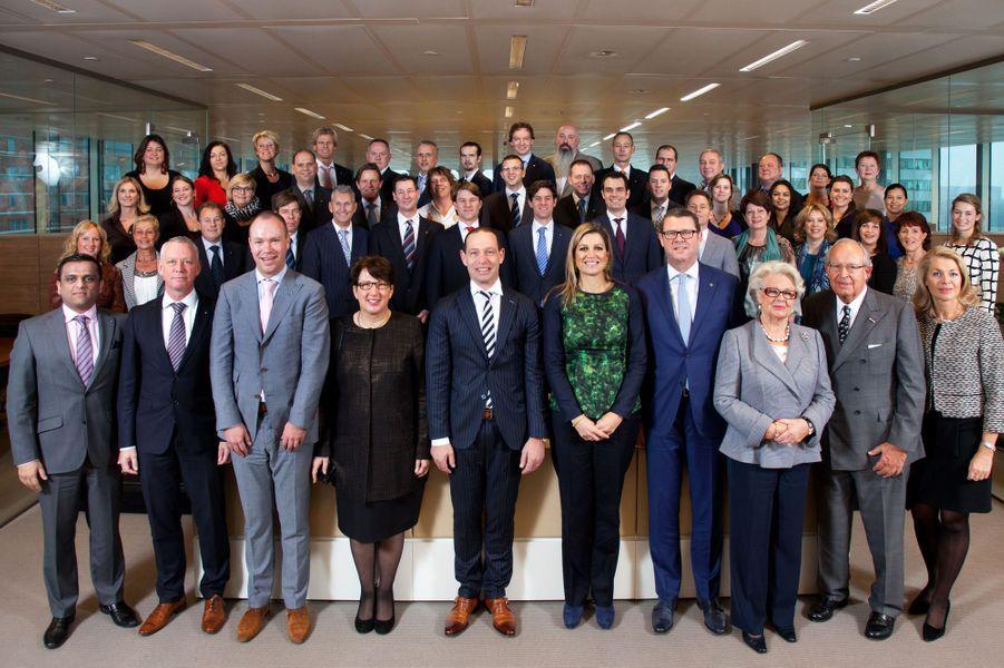 La reine Maxima des Pays-Bas visite l'entreprise Kotug à Rotterdam, le 3 décembre 2014