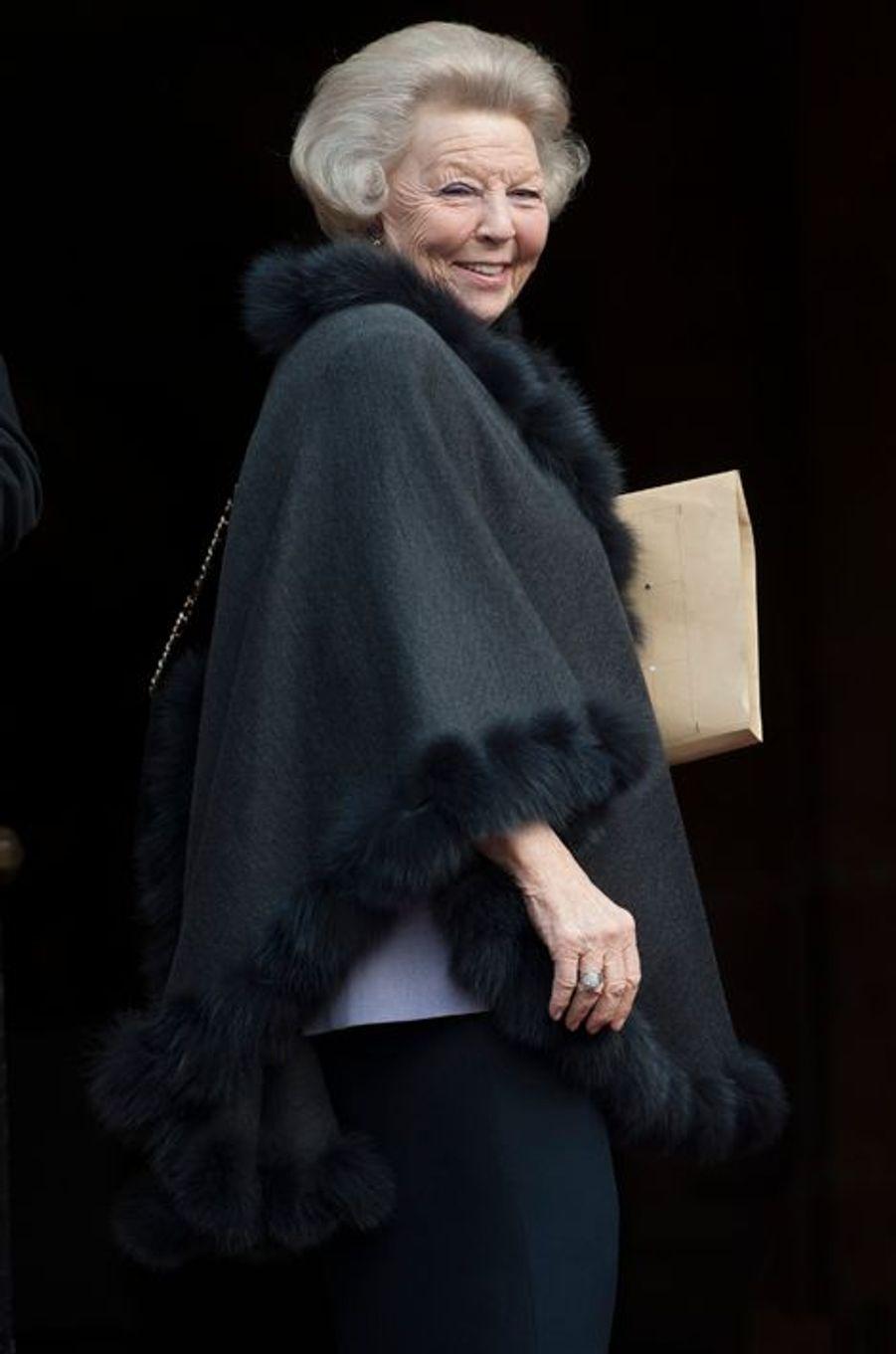 La princesse Beatrix des Pays-Bas, à Amsterdam, le 13 janvier 2015