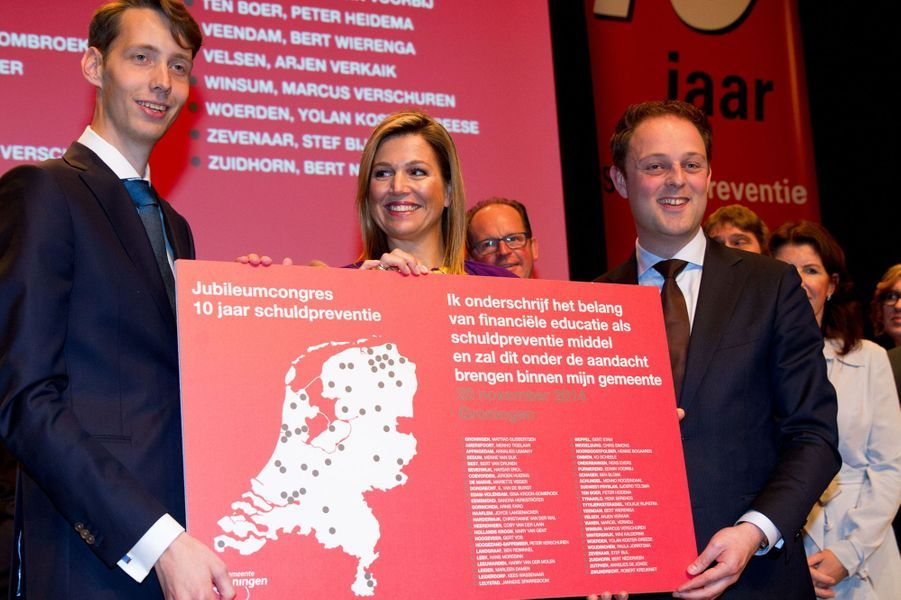 La reine Maxima des Pays-Bas au colloque des jeunes agriculteurs à Utrecht, le 20 novembre 2014