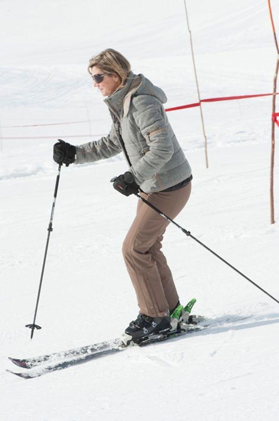 La reine Maxima à Lech, le 23 février 2015
