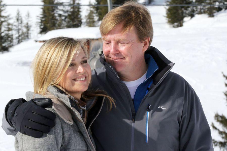 La reine Maxima et le roi Willem-Alexander à Lech, le 23 février 2015