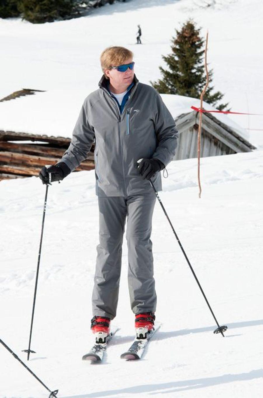 Le roi Willem-Alexander à Lech, le 23 février 2015