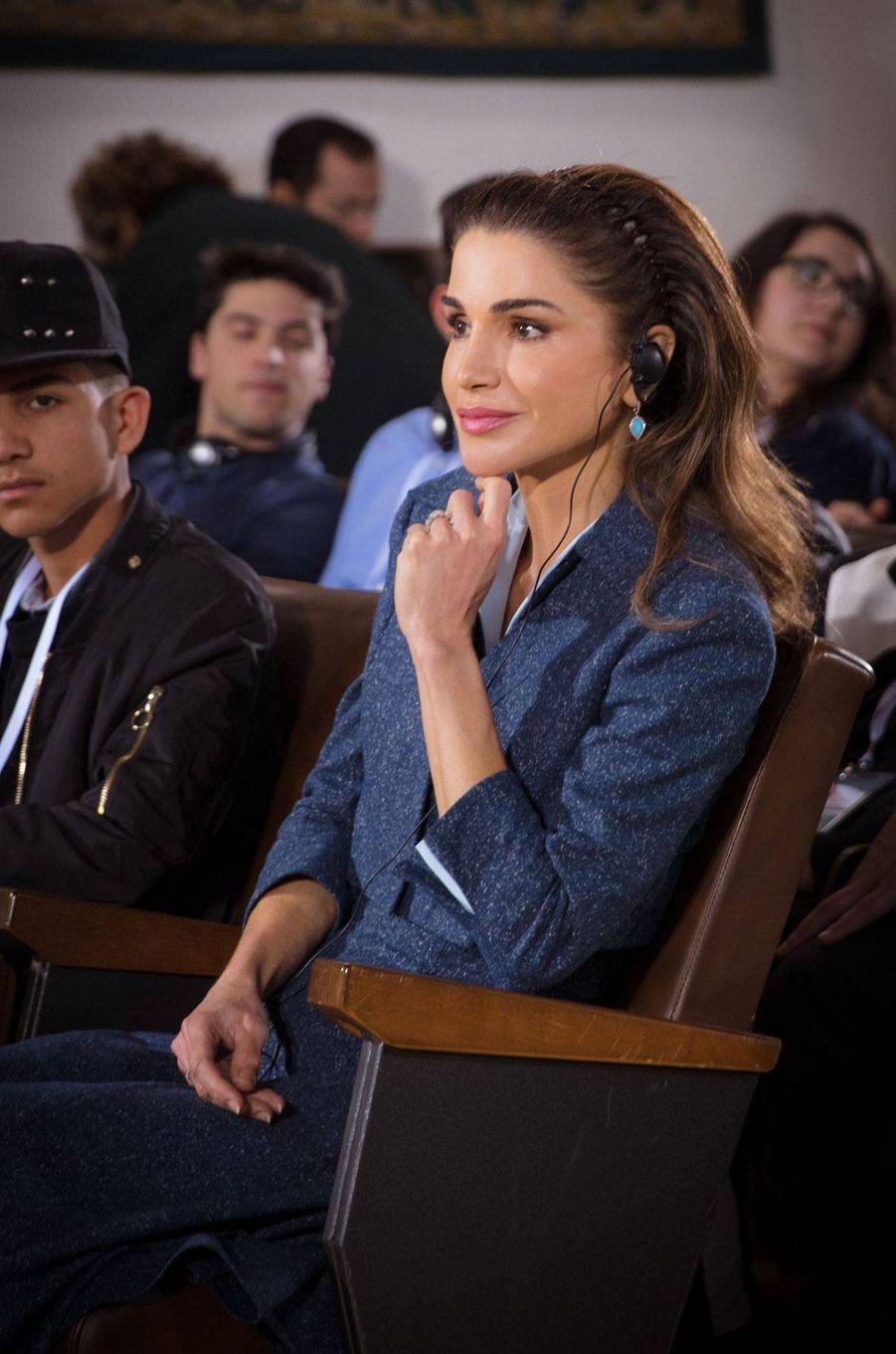 La reine Rania de Jordanie à Assise, le 29 mars 2019