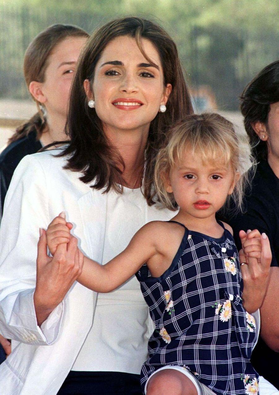 Rania avec la princesse Iman en 1999
