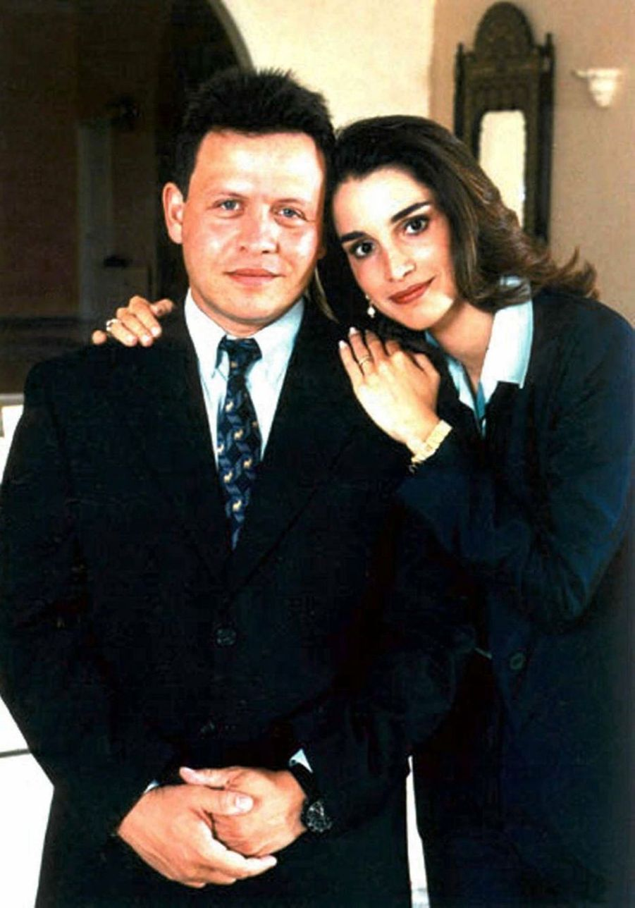 Rania avec le roi Abdallah en 1997