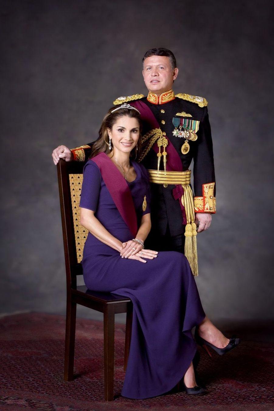 Rania avec le roi Abdallah en 2008