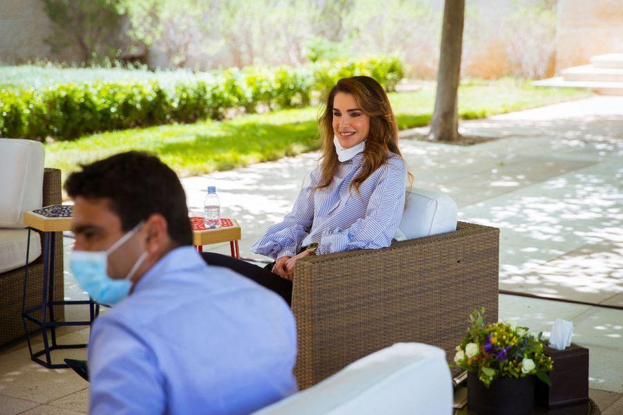 La reine Rania de Jordanie à Amman, le 8 juin 2020