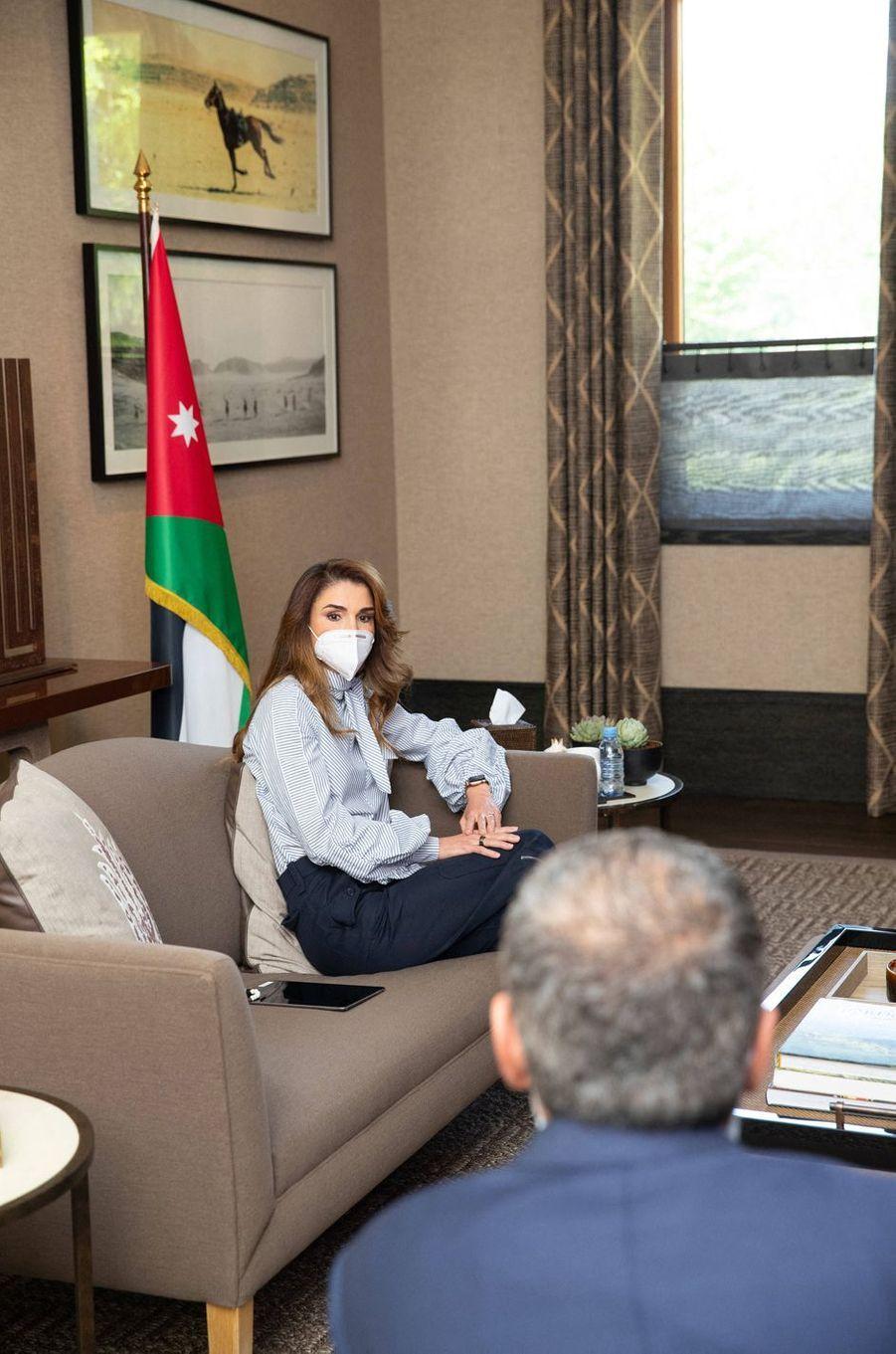 La reine Rania de Jordanie, le 8 juin 2020 à Amman