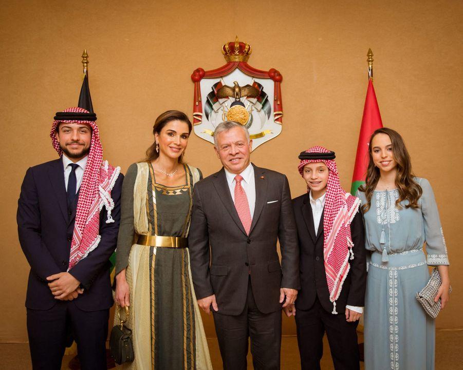 La famille royale de Jordanie à Amman, le 25 mai 2019