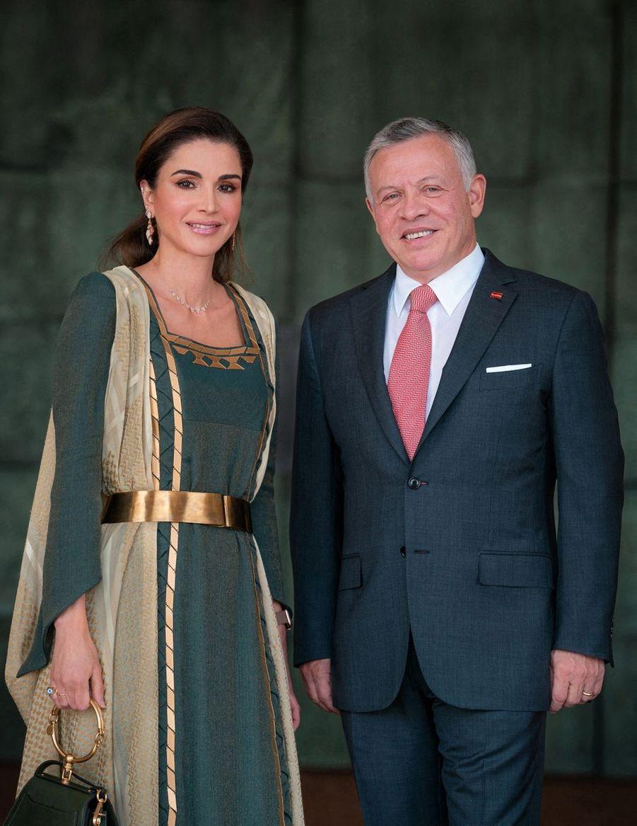 La reine Rania et le roi Abdallah II de Jordanie à Amman, le 25 mai 2019