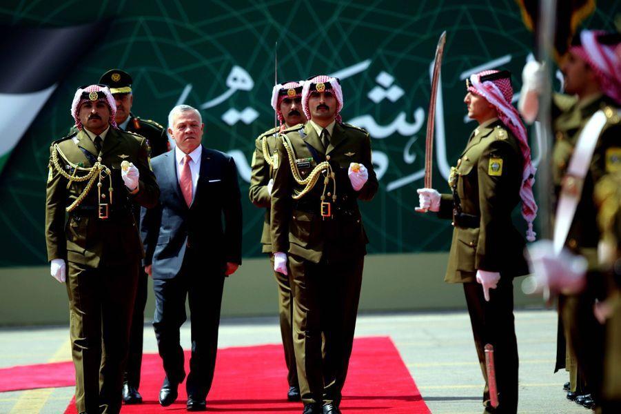 Le roi Abdallah II de Jordanie à Amman, le 25 mai 2019