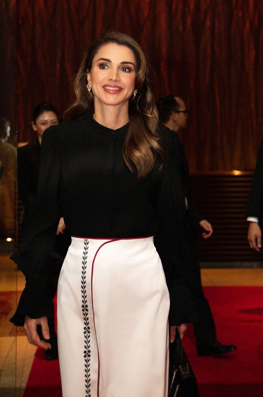 La reine Rania de Jordanie à Tokyo, le 17 novembre 2018
