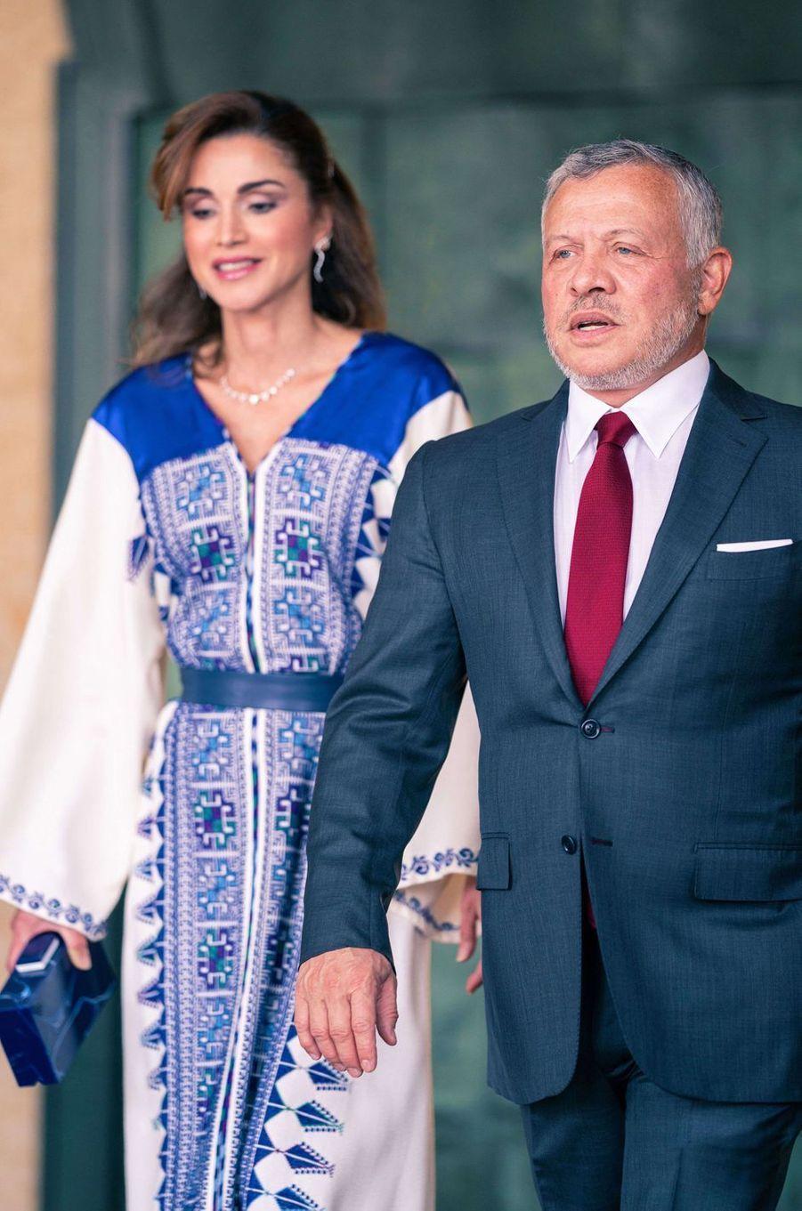 La reine Rania et le roi Abdallah II de Jordanie à Amman, le 25 mai 2020
